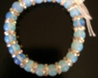Moonstone and sparkle bracelet