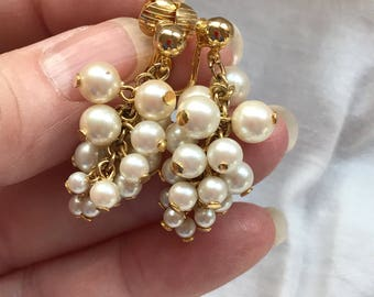 Pearl Cluster Earrings -- 748