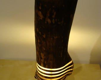 table lamp from finnish aspen wood wood lamp tree trunk lamp