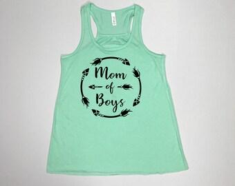 Mom of boys, Mom shirt, Mom life, Mom of the wild one, mom of boys tee, mom of boys tank, boy mama, blessed mama, mother of boys, mom tank