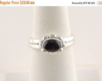 33% Off Christmas in July Size 6 Sterling Silver And Black Onyx Ring