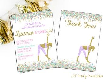 Yoga invitation etsy yoga birthday party digital invitation yoga invitation yoga digital invite namaste invite stopboris Gallery