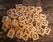 Solid Wood Scrabble Wall Tiles to Personalize Your Home Decor