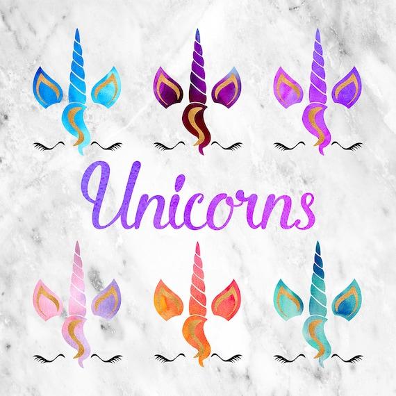 Unicorn Clipart Unicorn Faces Clipart Unicorn Horn