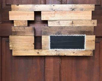 Chalkboard Cross Wood sign