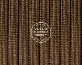 Brown Parallel (Flat) Cloth Covered Wire - Antique Lamp Cord - UL Listed **Same Day Shipping**