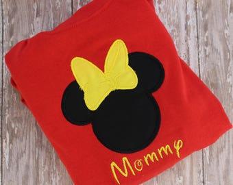 Disney Machine Applique - Minnie Mouse Applique - Minnie Mouse Ears - Applique Disney - Minnie Ears - Instant Download - by Pattys Appliques