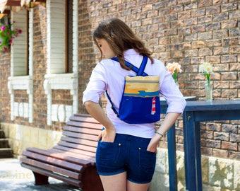 Sale -Messenger bag - Travel Bag - Hand work - Stylish Vegan Backpacks - Women's vegan backpack- Handcrafted Messenger Backpack - Gift Idea