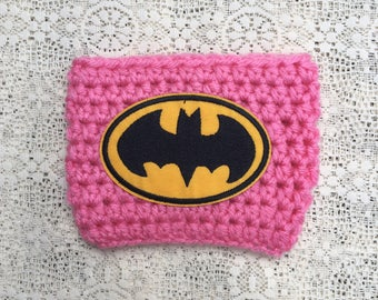 Batman Cup Cozy / Super Hero / Cup / Bottle / Travel Cup / Mug / Coffee / Tumbler / Crochet Cozy