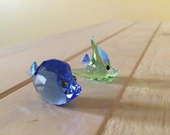 Swarovski Lovelots Shelly & Sam Fish Crystal Figurines