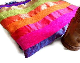 Beautiful multicolored Morocco 3 contents striped fabric