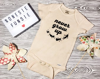 Never Grow Up Onesie // Peter Pan Onesie