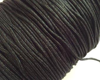 5m de cordelette Nylon tressé, 1,5mm de diamètre, noir