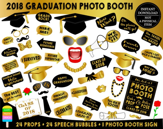 Zany image intended for free printable graduation photo booth props