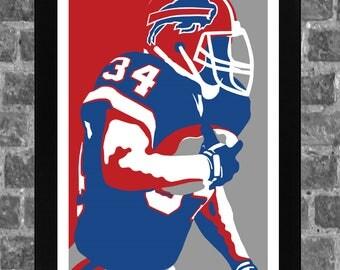 Buffalo Thurman Thomas Sports Print Art 11x17