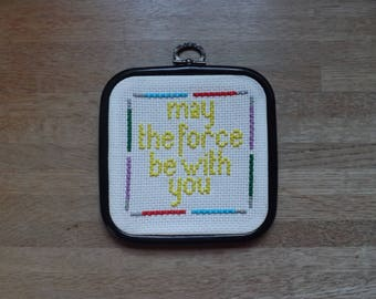 Star Wars inspired cross stitch.