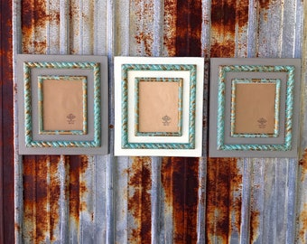 Kada Frames Rope Frame in Dovetail Gray/ Patina, White/ Patina