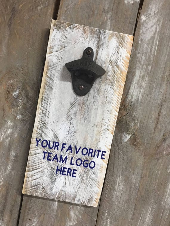 Sports Team Vintage Style Wall Mounted Bottle Opener Any