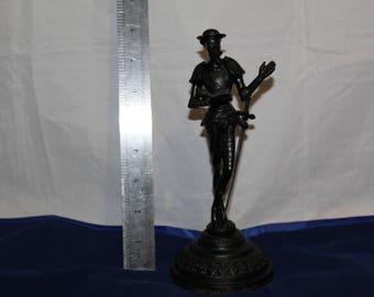Vintage Kasli Soviet Russian Metal Statue Don Quijote Sculpture USSR Hidalgo