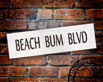 Beach Bum Blvd - Word Stencil - Select Size - STCL2073 - by StudioR12