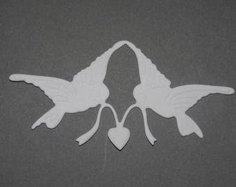 Cut paper Dove White heart