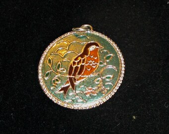 Sarah Coventry Pendent,Sarah Coventry Silver Bird Pendent,Sarah Coventry Silver Pendent,Bird Pendent,Sarah Cov Pendent,Silver Bird Necklace