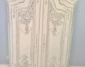Reserved~Antique French Carved Shell Armoire