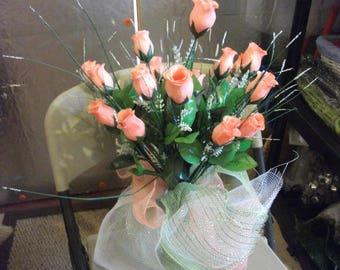 Gravestone vase