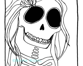Still Beautiful Skeleton Print
