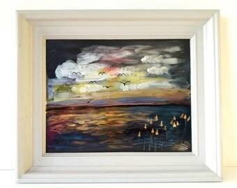 Framed Artwork, Landscape Art, Painting by Artworkbychristina