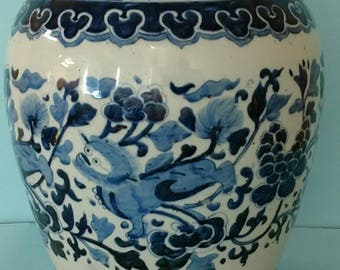 Early Ching Dynasty porcelain jar