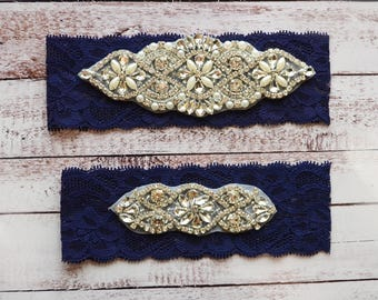 Wedding Garter, NO Slip Lace Wedding Garter Set, bridal garter set, pearl and rhinestone garter set, vintage rhinestones Style A2024