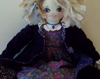 rag doll calico bloomers underskirt dress coat shoes  lawn linen clothes OOAK my own design