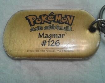 Vintage 1998 Pokeman Key Chain/Magmar #126