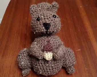 Crocheted Squirrel