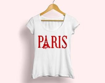 Paris T-shirt, Paris tee, Paris shirt, Graphic T-shirt, Eiffel Tower tee, Paris fashion shirt, French shirt, French tee, Paris love