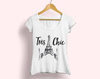 Paris T-shirt, Paris tee, Paris shirt, Eiffel Tower Tee, Eiffel Tower shirt, Paris fashion shirt, French shirt, French tee, Tres Chic tee