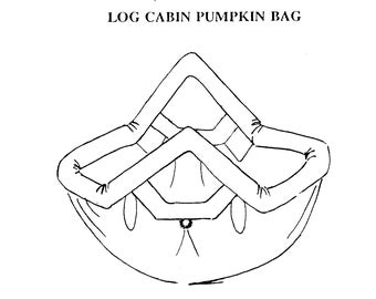 Log Cabin Pumpkin Bag, Sewing Pattern, Quilting Pattern, Patchwork Pattern,PDF pattern, Log Cabin Pattern, Instant Download
