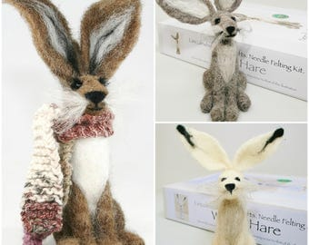 How to needle felt - 2 Hare felting kits for beginners special offer!