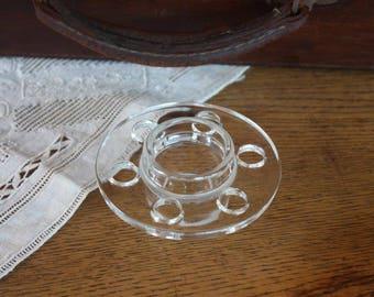 Vintage Clear Glass Flower Frog ~ Flower Arrangements Cottage Decor Vases Wedding Decor