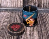 Dice Cup with vintage D&D DMG art