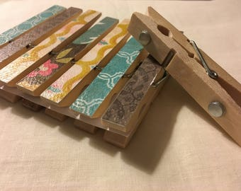 Clothespin Magnets - Funky Neutrals
