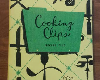 Vintage Housh Cooking Clips Recipe File