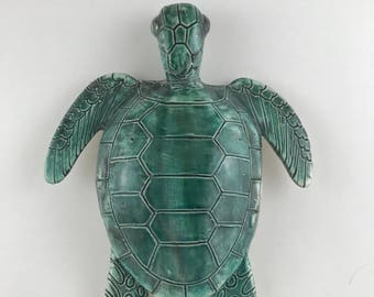 Sea Turtle/Sea Mist Green/Nautical/Ocean/Reef/Beach/Sand