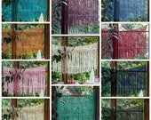 Customizable Yarn Macrame Hangings. Choose Your Colour and Width.  Made to Order and Fit Any Window or Home Decor Theme.