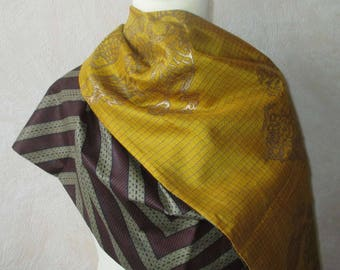 African and Indian silk scarf
