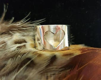 Je T'aime sterling silver heart ring