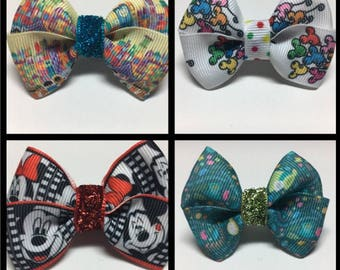 Magic Band Bow Bows Its a Small World Disney Mickey Balloons Alice Mad Hatter Minnie Party Gift