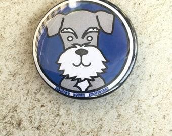 Bearded dog magnet - doggie magnet - animal magnet - schnauzer magnet - fridge magnet - dog lover gift - gift for dog lovers