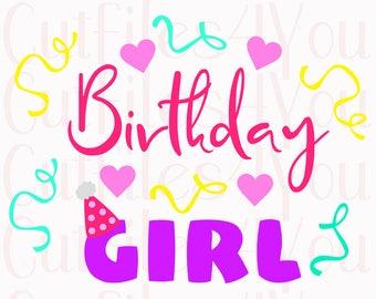 Birthday Girl SVG, Toddler Girl SVG, birthday svg, birthday celebration svg, HTV Ready Design, digital cut file, cameo cut file